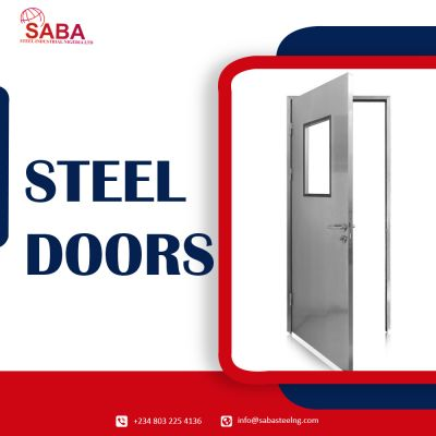 Ajami Kassem owner of Saba Steel Industrial Nigeria Ltd provide best quality of Custom Design, Fire-proof, high security, and easy to install steel doors available. Contact us - 8032254136